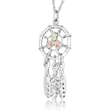 Sterling Silver Black Hills Gold Dreamcatcher Pendant - Jewelry