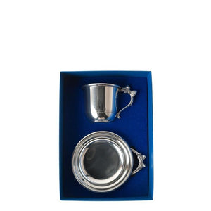 Bow Handle Cup & Porringer Set - Fortune And Glory - Made in USA Gifts