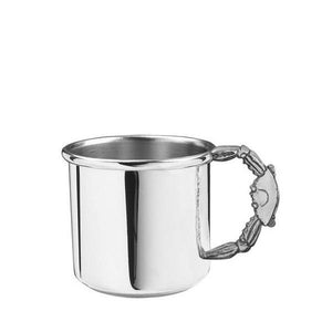 Crab Handle Baby Cup 5 oz. in Pewter - Fortune And Glory - Made in USA Gifts