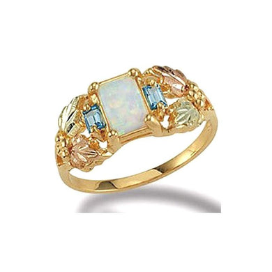 Black Hills Gold Square Opal Ring - Fortune And Glory - Made in USA Gifts