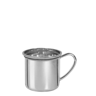 Cambridge Baby Cup with Beading in Sterling Silver - ENG