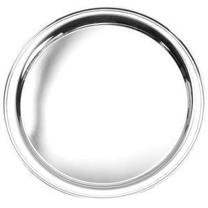 "Round Tray 12"" in Sterling Silver - Fortune And Glory - Made in USA Gifts"