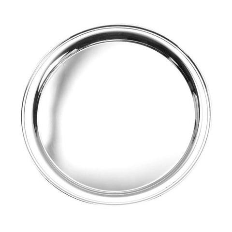 "Round Tray 9"" in Sterling Silver"
