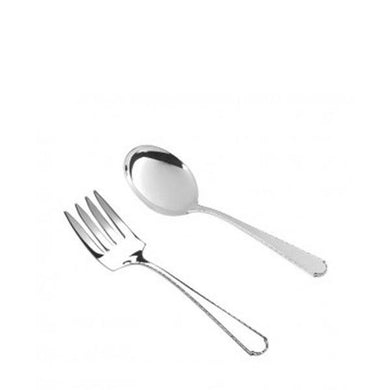 Virginia Baby Fork and Spoon Set in Sterling Silver - Fortune And Glory - Made in USA Gifts