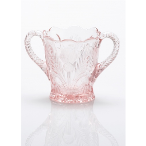 Inverted Thistle Glass Sugar Bowl - 4 Color Options - Baby Gifts