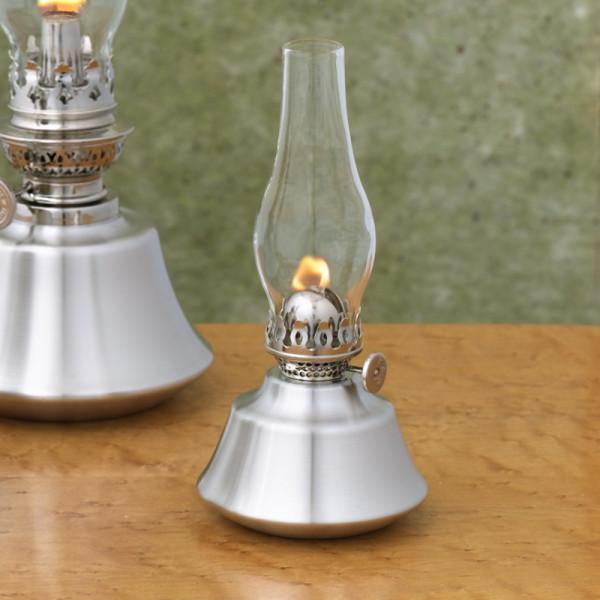 Tree House Pewter Oil Lamp