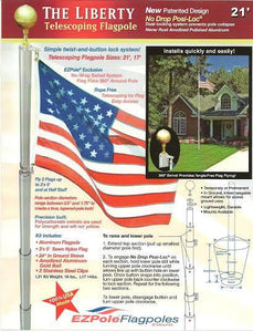 Liberty Telescoping Flagpole - Fortune And Glory - Made in USA Gifts
