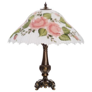 Pink Rose Large Lamp - Fortune And Glory - Made in USA Gifts