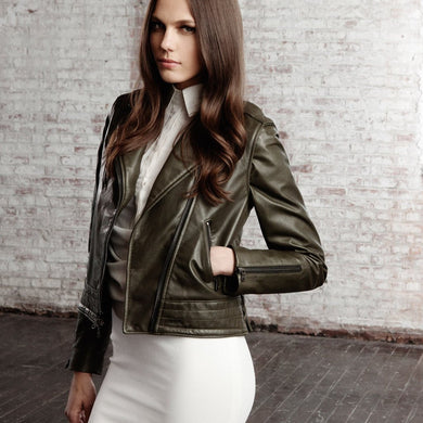 Betty Motorcycle Leather Jacket - Fortune And Glory - Made in USA Gifts