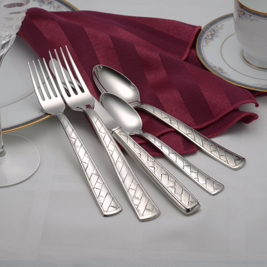 Weave Flatware Set - Fortune And Glory - Made in USA Gifts