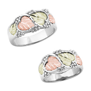 Black Hills White Gold His & Hers Traditional Wedding Ring Set III