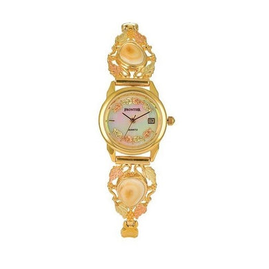 Appalachian Elk Ivory Mother of Pearl Face Ladies Watch