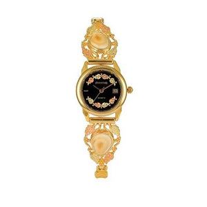 Appalachian Elk Ivory Black Face Ladies Watch