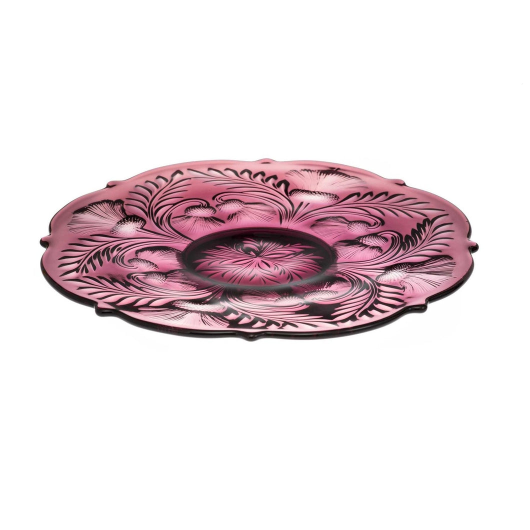 Inverted Thistle Glass Egg Plate - 4 Color Options