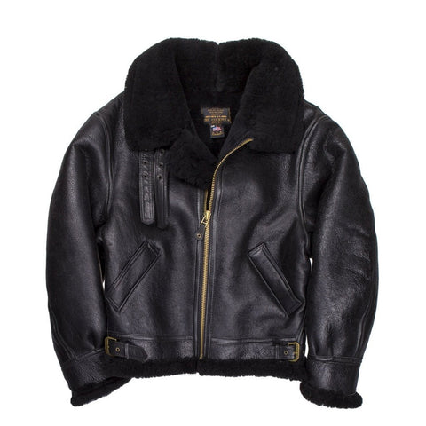 B-3 Authentic Black Sheepskin Jacket
