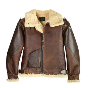1941 Pearl Harbor B-3 Bomber Leather Jacket - Fortune And Glory - Made in USA Gifts