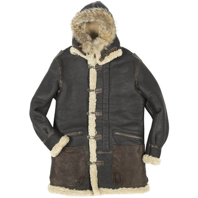 B-7 Aleutian WWII Sheepskin Parka - Fortune And Glory - Made in USA Gifts