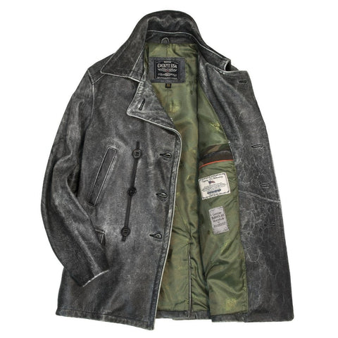 Horsehide USN Leather Bridge Coat