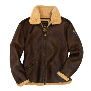 B-6 Shearling Bomber Jacket - Fortune And Glory - Made in USA Gifts