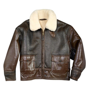 AN-J-4 Sheepskin Jacket - Fortune And Glory - Made in USA Gifts