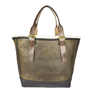 Distressed B-3 Leather Bag