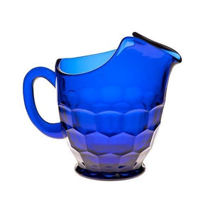 Georgian Glass Pitcher - 5 Color Options - Cobalt / 26 Oz. - Baby Gifts