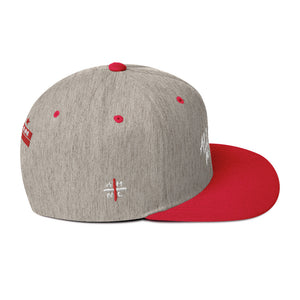 Red / HEATHER Ahnl Snapback - All Stuck