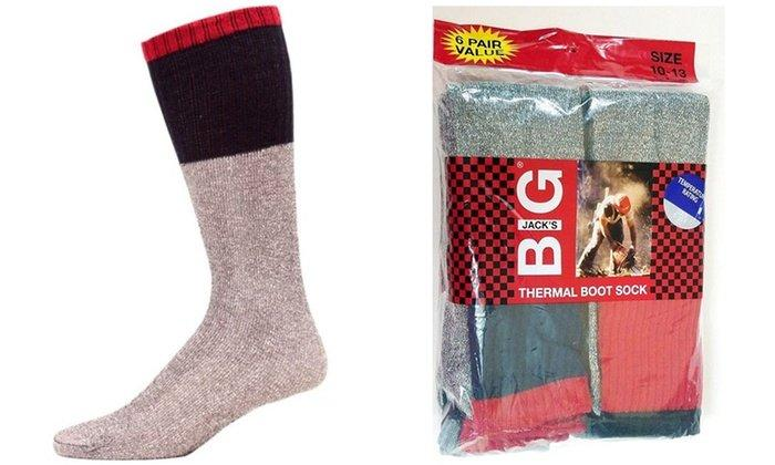 Big Jacks Mens Thermal Boot Socks Temperature 5-25 Degrees F