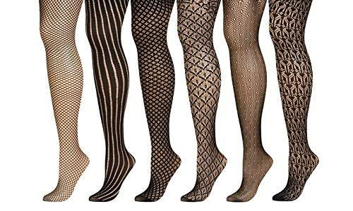 Chatties Openwork Tights in Regular and Queen Sizes (6-Pack)