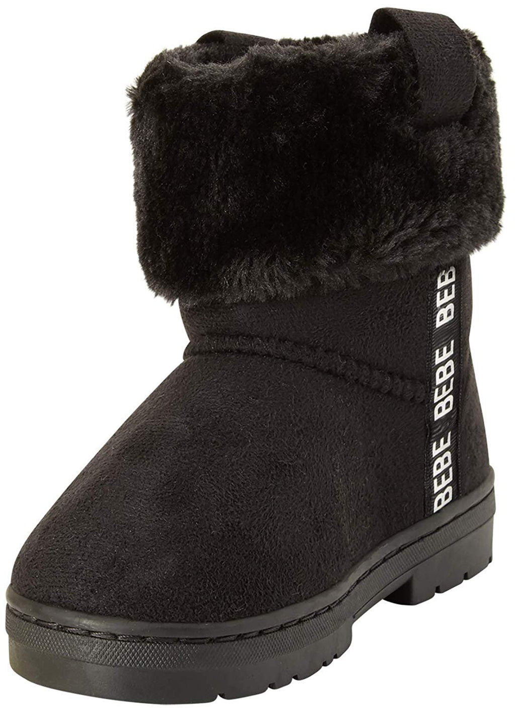 bebe Girls' Microsuede Winter Boots with Faux Fur Cuff (Little Girl/Big Girl)