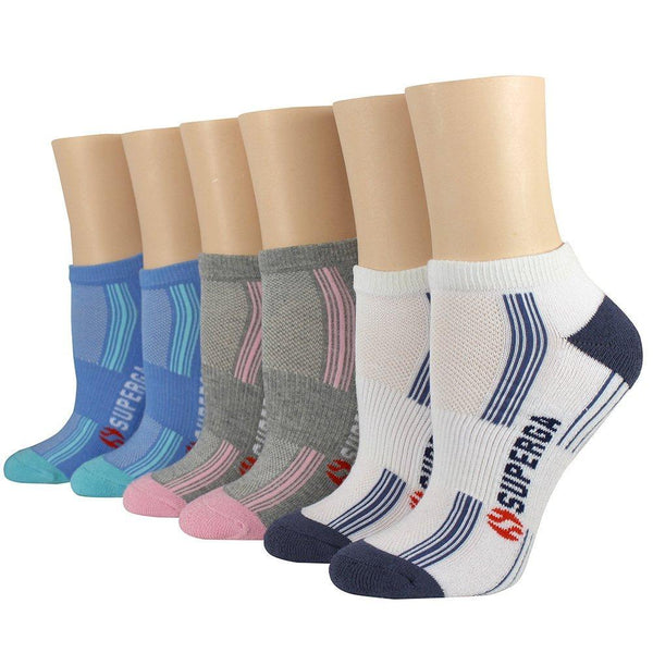 Superga Cushioned Athletic Low-Cut Socks with Arch Support (6- or 12-Pairs)