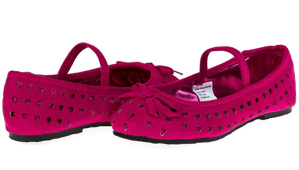 Chatties Toddler Girls Microsuede and Glitter Hearts Ballet Flats (See More Colors/Sizes)