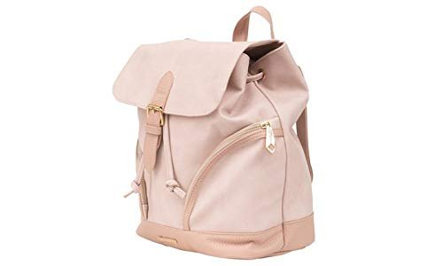 Rampage Women's Mixed Media Pebble Grain Backpack (Pink // Blush)