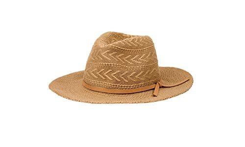 Rampage Hats Women's Panama Hat with Microsuede Trim