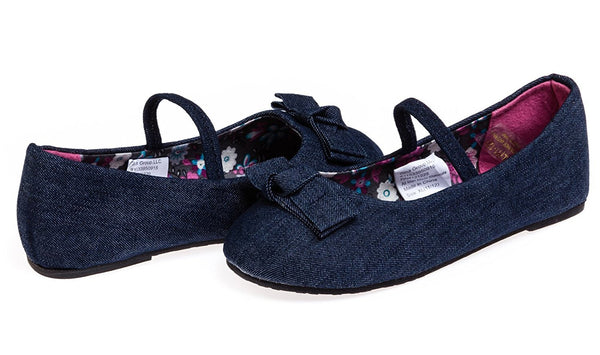 Chatties Toddler Girls Denim Ballet Flats (See More Colors/Sizes)