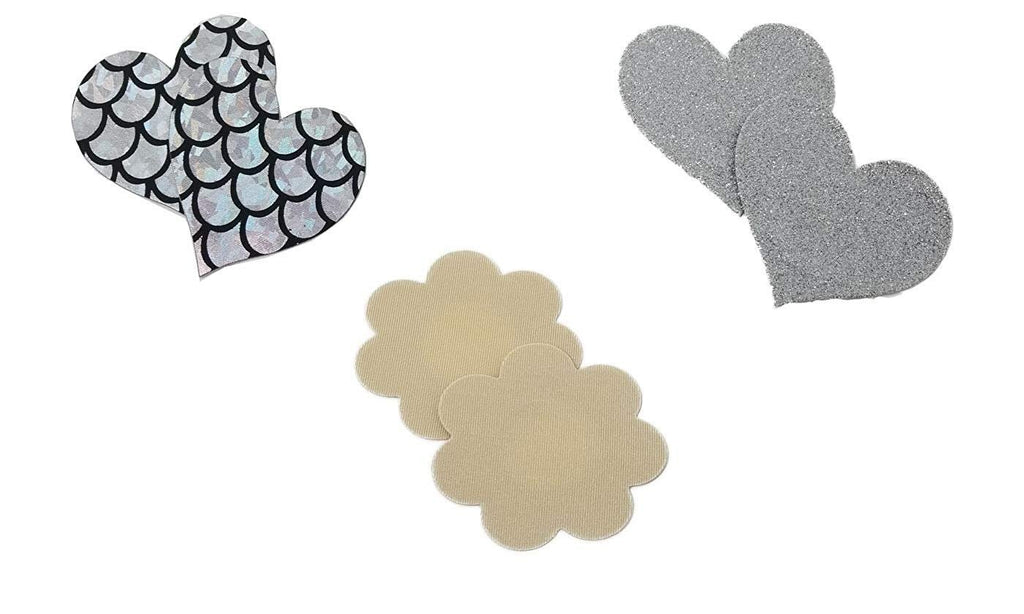 Adhesive Silicone and Petal Nipple Covers Breast Pasties