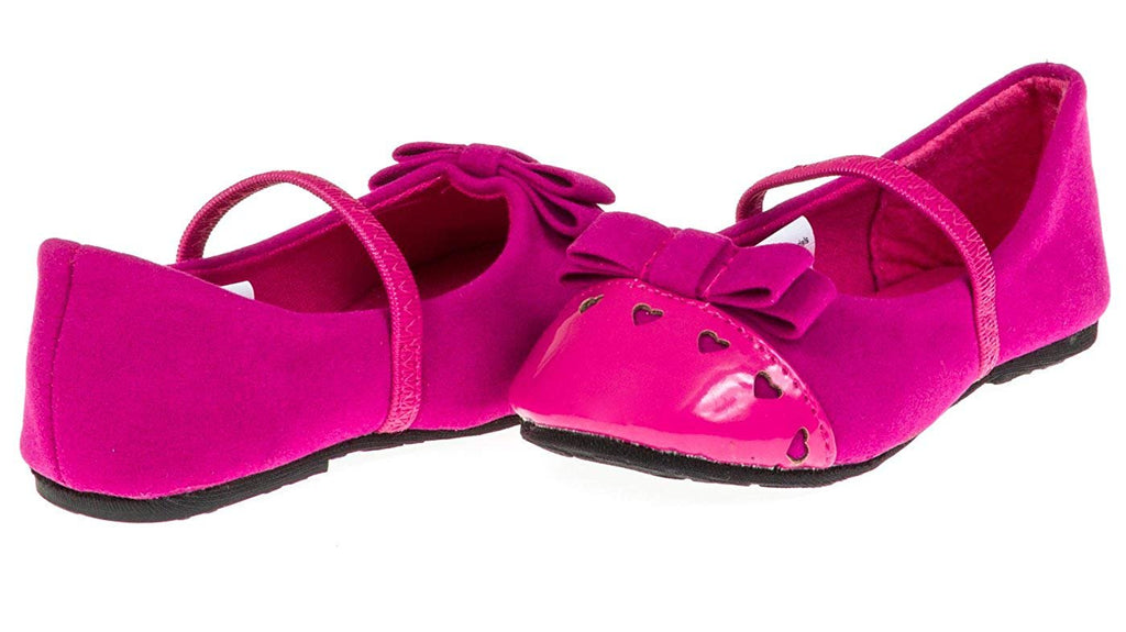 Chatties Toddler Girls Velvet Ballet Flats (See More Colors/Sizes)