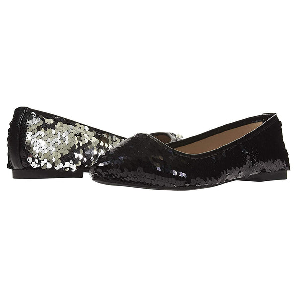 Chatties Women's Ballet Flats with Reversible Sequins Slip-On Shoes