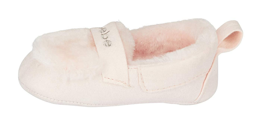 bebe Infant Girls Prewalker Moccasin Slippers with Faux Fur Lightweight Slip-On Crib Shoes