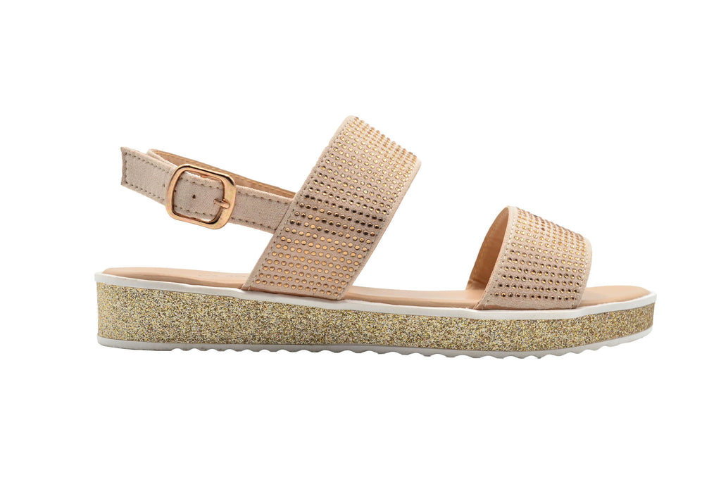 Via Rosa Ladies Fashion Sandals Platform Sandal With Glitter Midsole