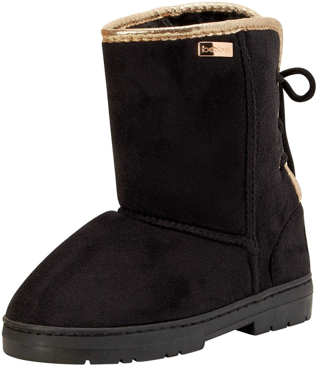 bebe Girls' Microsuede Winter Boots with Back Lace Up (Toddler/Little Girl/Big Girl)