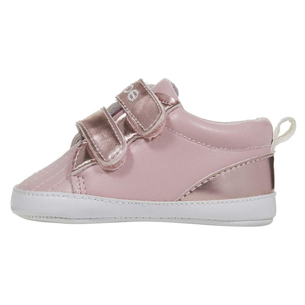 bebe Infant Girls Sneakers with Metallic Touch Fastener Straps Laceless Shoes