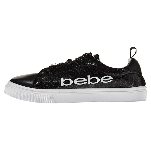 bebe Girls Low Top Athletic Sneakers Glitter Comfort Sports Shoes
