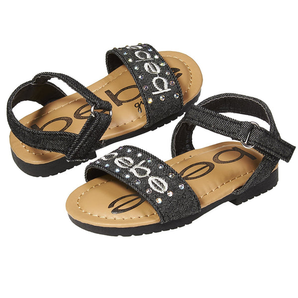 bebe Fashion Patent Pu Slingback Flat Flip Flop Sandal Shoes Girls Toddler/Little Kid