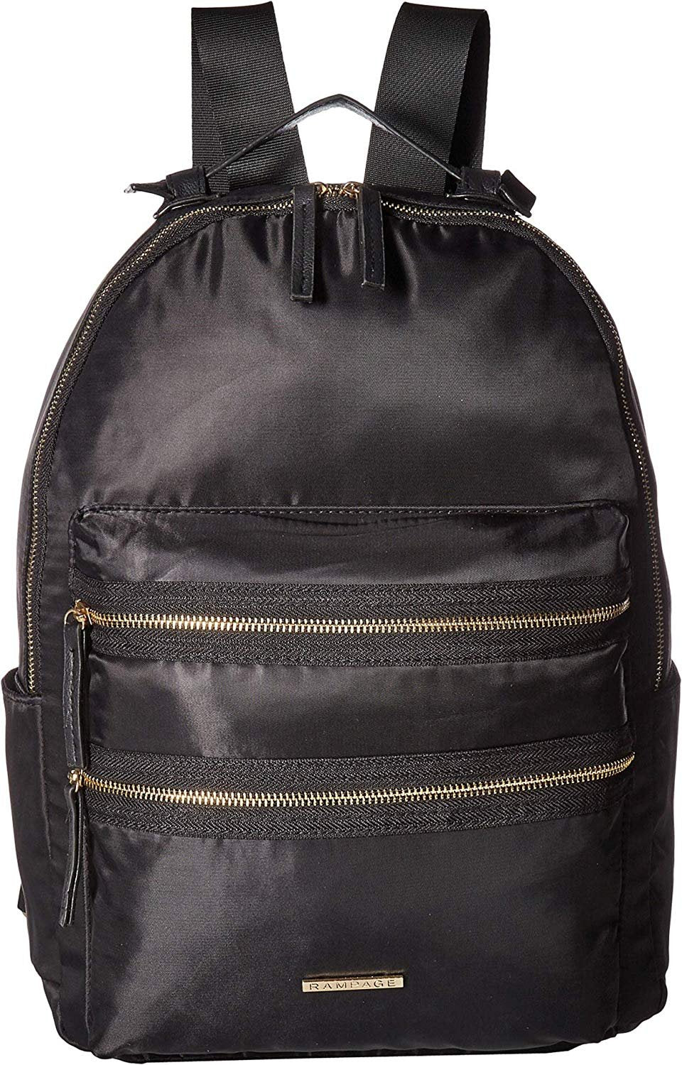 Rampage Womens Nylon Exposed Zipper Backpack