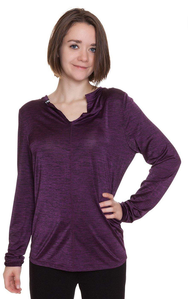 Steve Madden Space Dye Jersey Knit Long Sleeve Lounge Top