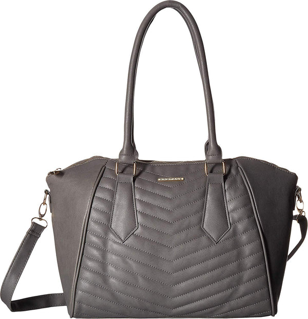 Rampage Womens Chevron Quilted Satchel