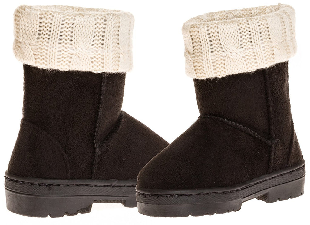 Sara Z Toddler Girls Lug Sole Winter Boot With Fold-Over Sweater Cuff (See More Colors & Sizes)