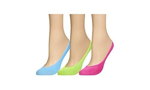 Chatties Neon Microfiber No-Show Liner Socks (6- or 18- Pairs)