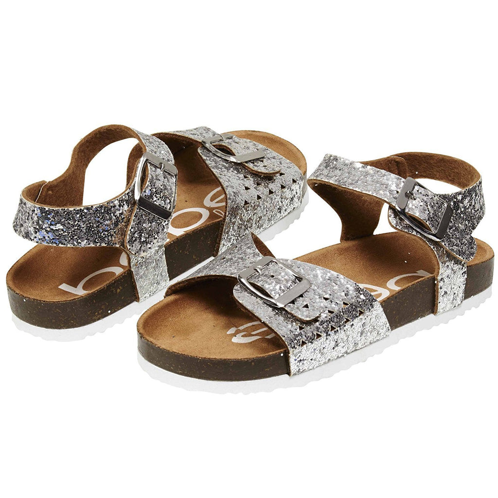 bebe Glitter Footbed Sandals with Double Buckles for Girls